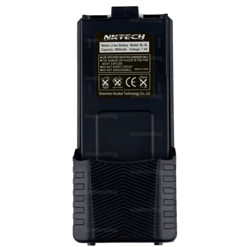 NKTECH UV 5R 3800mah Li ion Battery For Baofeng UV5R UV5RE UV5RC UV5RS TYT F9 baofeng