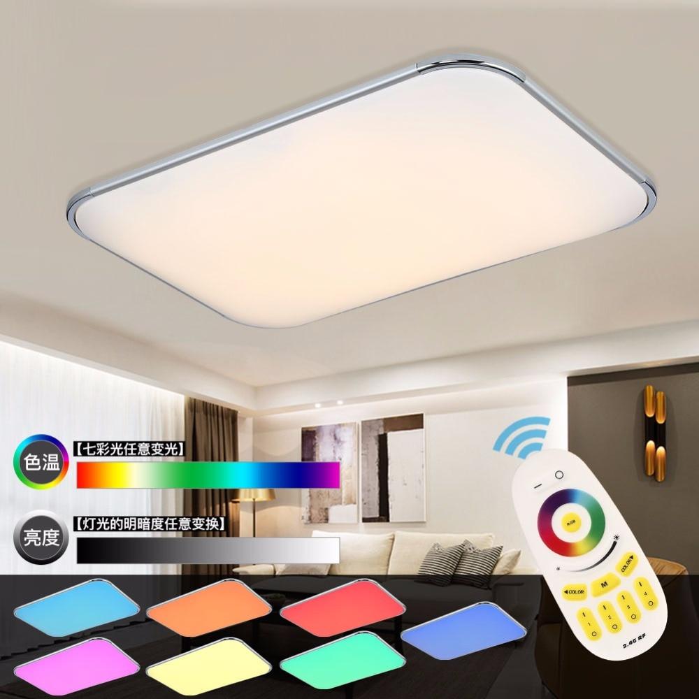Kopen Goedkoop Moderne Led Plafondlamp Afstandsbediening Groep Rgb Plafond Verlichting Voor Woonkamer Slaapkamer Remote Kleur Veranderende Lamp Home Prijs