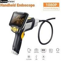 Tela LCD HD 1080P Endoscópio Handheld 4.3 Polegada 1m 3m 5m 10m Endoscópios Endoscópio Industrial Casa Multiuso com LEDs 6 IM112
