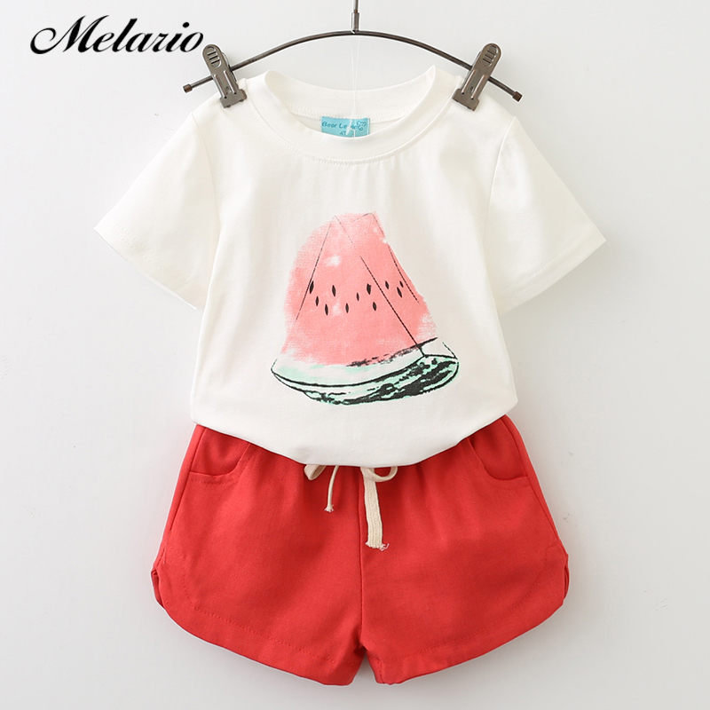 New Girls Clothing Sets 2019 Summer Casual Style Fashion Watermelon Print Design Short Sleeve + Pants 2Pcs Kids Clothing SetsNew Girls Clothing Sets 2019 Summer Casual Style Fashion Watermelon Print Design Short Sleeve + Pants 2Pcs Kids Clothing Sets