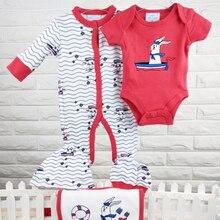 بدلة أولاد للأطفال ملابس نوم رومبير ملابس أطفال حديثي الولادة قطن 100% شحن مجاني ملابس أطفال