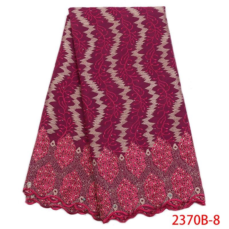Nouveau tissu de dentelle de coton de conception avec des pierres pour la robe de fête offre spéciale de haute qualité dentelle de voile suisse en suisse NA2370B 1-in Dentelle from Maison & Animalerie    1