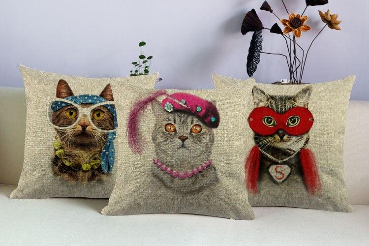 Alle arten von modischen kleid der Katze Decor Kissen Bettwäsche Baumwolle Kissen Dekorative Kissen Auto & Home der