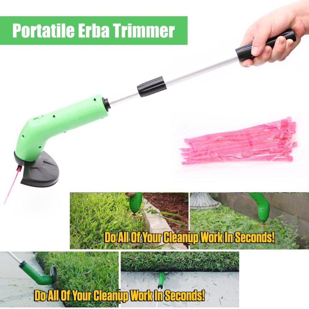 Protable  Ziptrim Cordless Lawn Mower Grass Trimmer Garden Edging Decor Tool Electric Trimming Machine With Telescopic Rod Ties