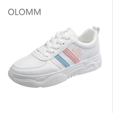 Women Casual Shoes Femme Spring Autumn Shoes Women Sneakers Flats Fashion Lace-Up White Breathable woman Sneakers ST314