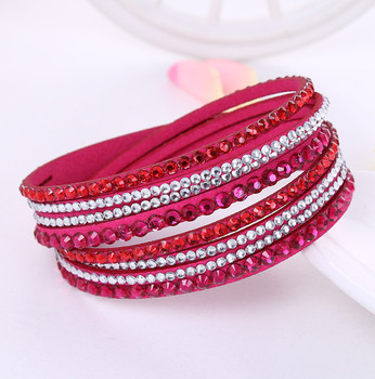 Crystal Multi-Layer Wrap Bracelets Bracelets Jewelry New Arrivals Women Jewelry Metal Color: rose