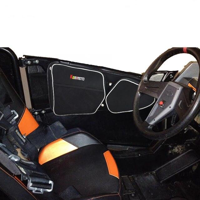 e9ad9024552b KEMiMOTO for Polaris RZR 900 RZR XP 1000 for Can-Am Commander 1000 UTV Door  Bag Side Storage Bag Knee Pad Passenger Driver Pad