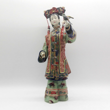 Classical Chinese Character Painted Pure Manual Figurine Boutique Glazed Ceramic Ornaments Bird Safe Figure Crafts Handmade