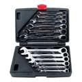 JFBL Hot NEW 12pc Spanner Wrench Ratchet Ring Box Set Kit 8-19mm Tool Mechanic Car Garage