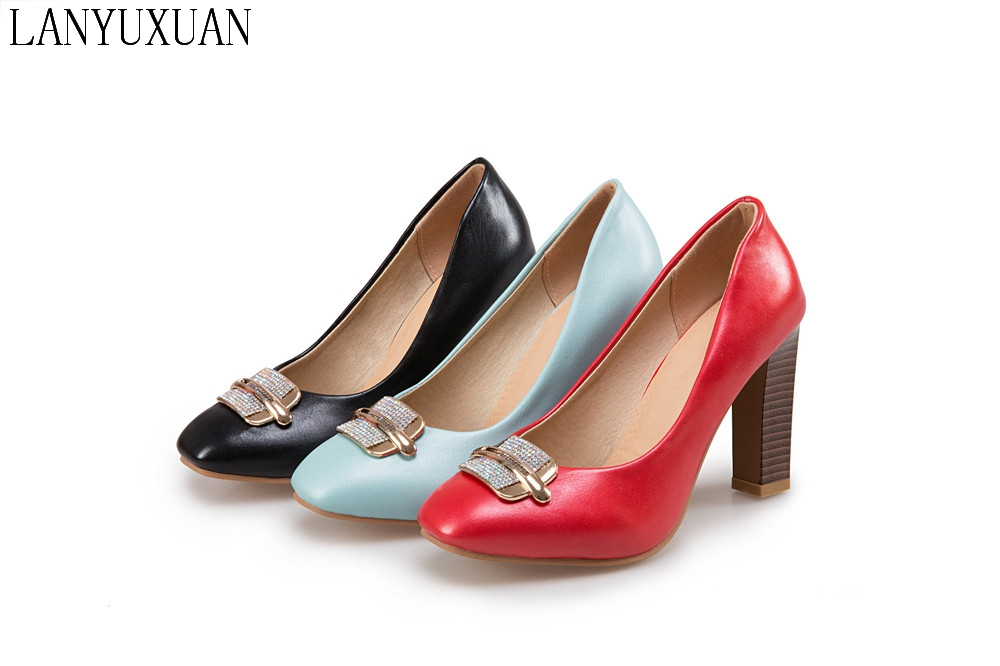 2017 New Zapatos Mujer Shoes Big Size 31-45 Spring Autumn Pumps Women Shoes High Heels Wedding Party shoes T711 мужские ботинки spring autumn hightop size38 45 2