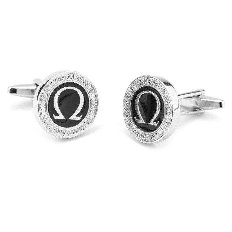 Fashion Jewelry HOT Movie Alice in Wonderlands Letter Ohm Cufflinks Madness Returns Horseshoe Symbol Cufflinks