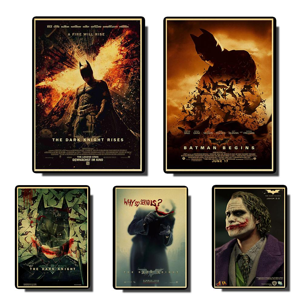 BATMAN MOVIE POSTER Vintage Posters Prints Wall Painting High Quality Decor Poster Wall Painting Home Decoration