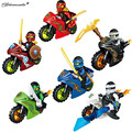 New Educational Ninjagoed Motorcycles Lloyd/zane/garmadon 6pcs /lot Sets Model Figure Toy Kids Building Bricks Children's Toy