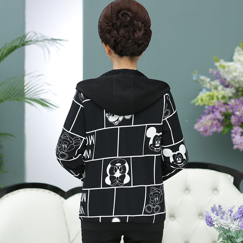 Clothing traje qiu dong abrigo de las mujeres de mediana edad madre de otoño de