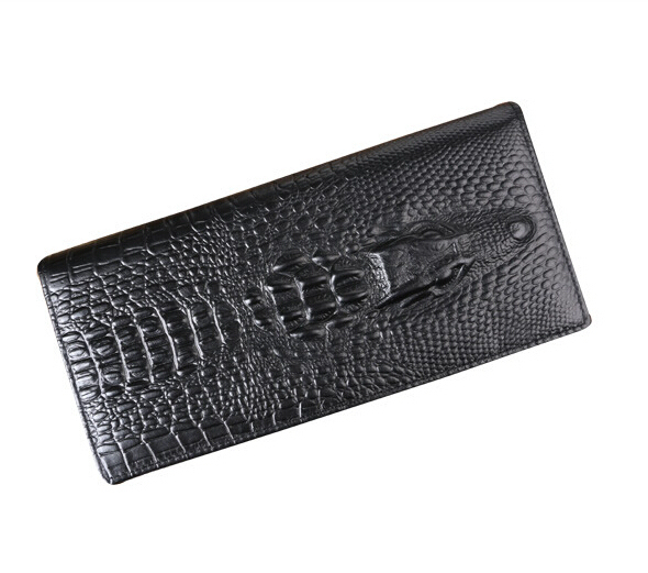 Fashion Long Men Wallet Genuine Leather Men Wallets Famous Brand Alligator Men Clutch Wallets Free Shipping