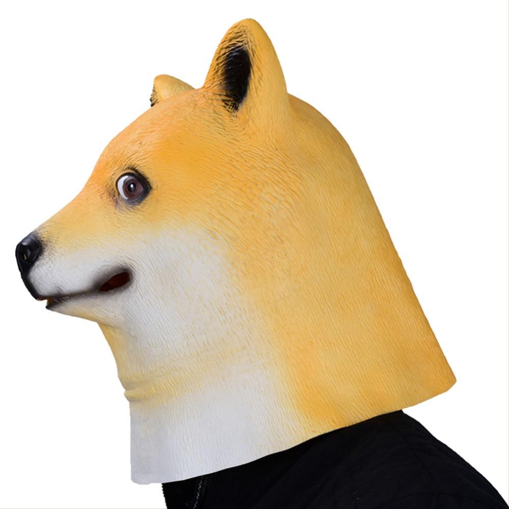 German Shepherd Dog Face Head Hood Cosplay Costume Adults Headgear Funny Animals