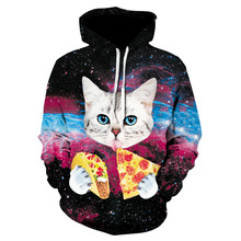 ZOGAA Pizza Cat Hoodies Men Brand Sweatshirts Unisex 3D Pritned Pullover 3xl Coats Plus Casual Tracksuits Autumn Male Hoodie