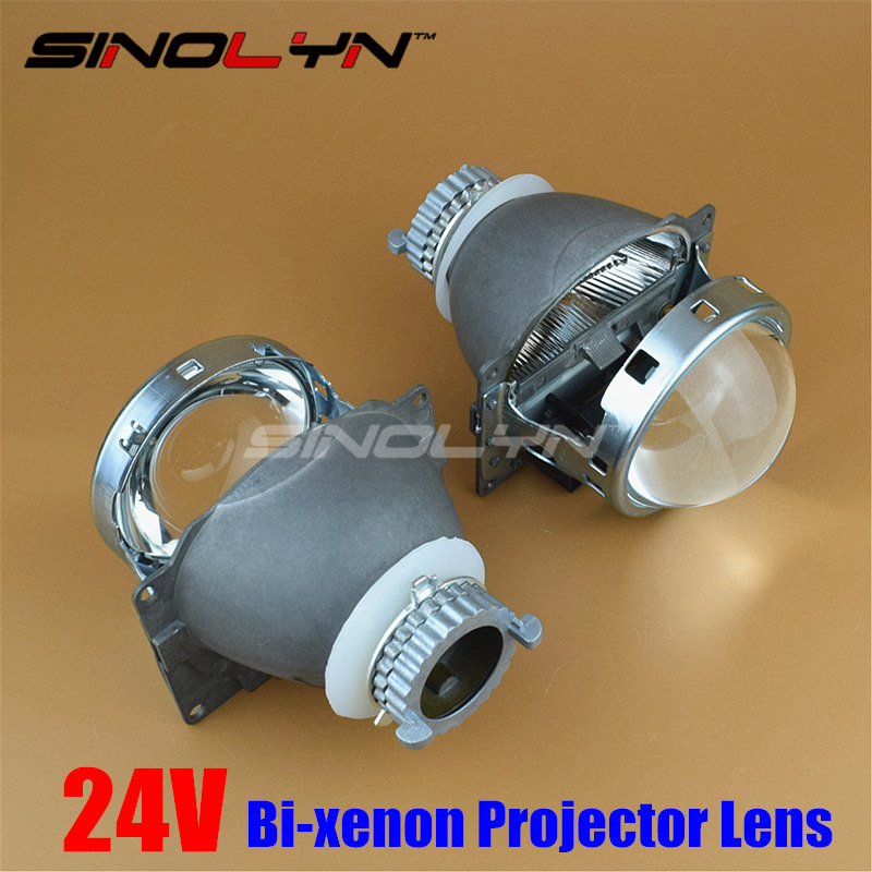 SINOLYN 3 0 inch 24V HID Bi xenon Car Projector Lens Q5 Metal For Car Truck