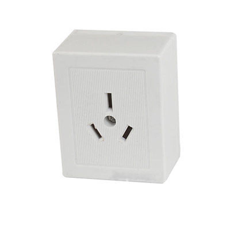 AC 250V 10A 3 Pins AU White PLastic Wall Plate Power Socket smeong 3 socket wall power plate white ac 250v