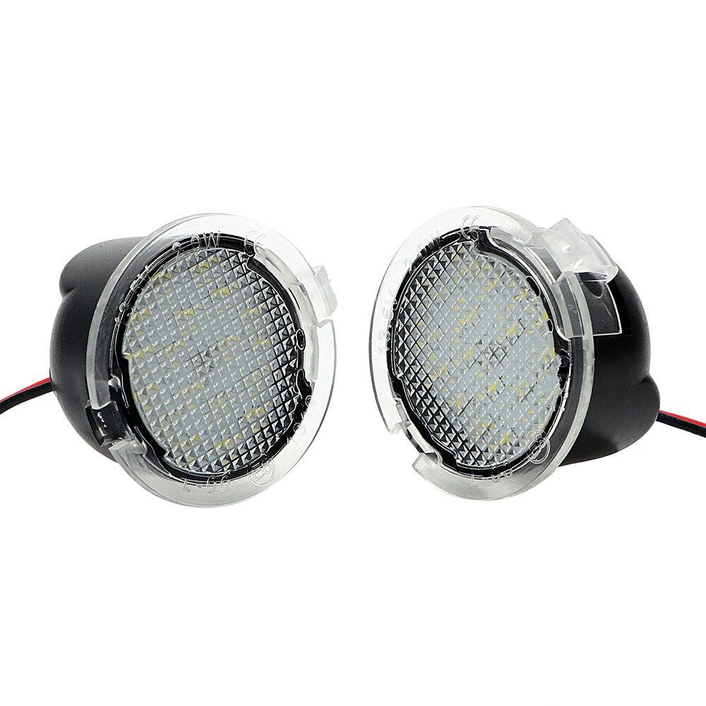 ITimo 2 Pcs/ensemble LED Sous Côté Miroir Lumière Voiture de coiffure Puddle Lampe Voiture Rétroviseur Lampe Pour Ford Edge Mondeo Explorer F150