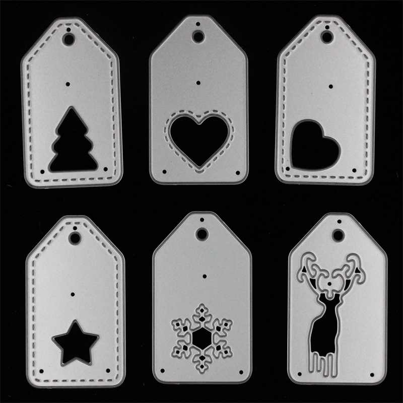 Christmas Tags Metal Cutting Dies Stencils for DIY Scrapbooking/photo album Decorative Embossing DIY Paper Cards