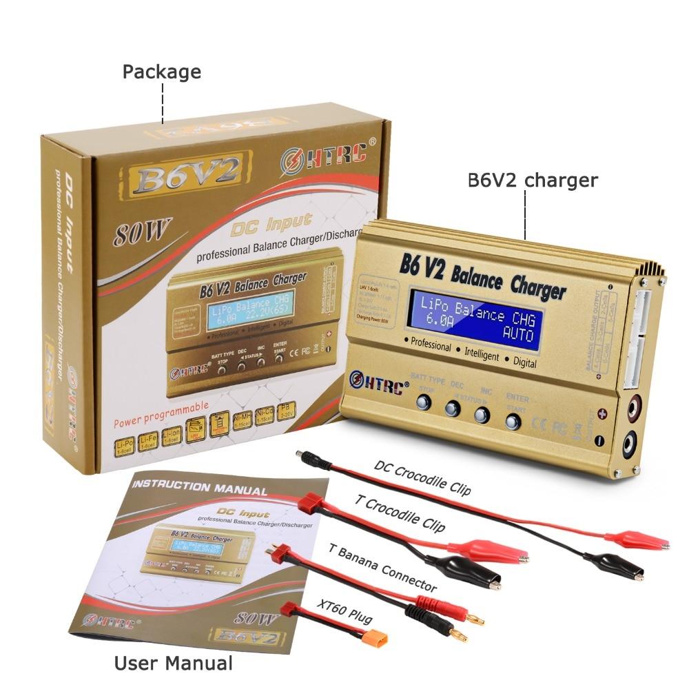 HTRC Imax B6 V2 80 W 6A RC Balance cargador para LiIon/LiFe/NiCd/NiMH/alta batería LiHV 15 V 6A adaptador de CA opcional