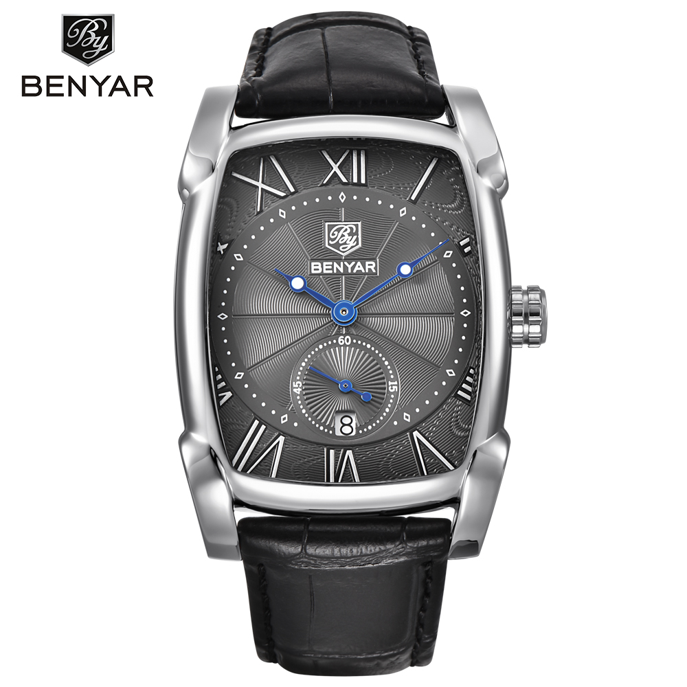 BENYAR Brand Luxury Men's Watch Waterproof Clock Male Casual Quartz Watches Men Wrist Sport Watch erkek kol saati/BY-5114M splendid brand new boys girls students time clock electronic digital lcd wrist sport watch