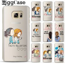 You're My Person Greys Anatomy phone Case For Samsung Coque Galaxy S6 S7 Edge S8 S9 J5 J7 A5 2017 J4 J6 A6 A8 Plus 2018 Note 8 9(China)