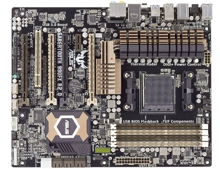 Free shipping original motherboard for ASUS SABERTOOTH 990FX R2.0 Socket AM3+ DDR3 32GB 990FX Desktop motherboard