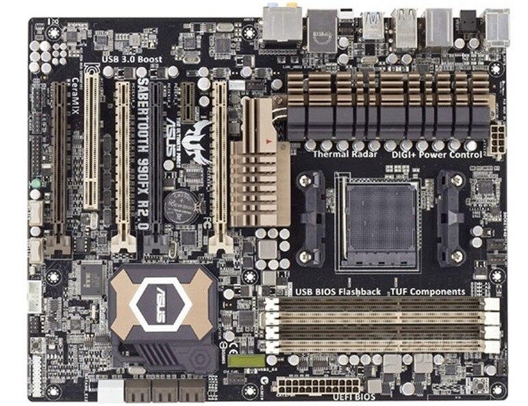 Livraison gratuite origine carte mère pour ASUS SABERTOOTH 990FX R2.0 Socket AM3 + DDR3 32 GB 990FX De Bureau carte mère