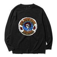 את גרייטפול דד דלתות ג 'ים מוריסון פסיכדלי טי להקת רוק כותנה מלאה שרוול ארוך חולצת טי t באיכות טובה