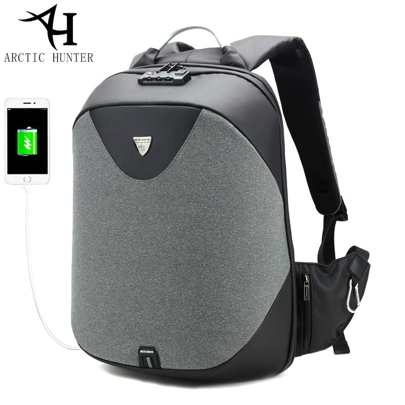 ARCTIC HUNTER New Anti-theft 15.6 Laptop Men Bag School Password Lock Backpack