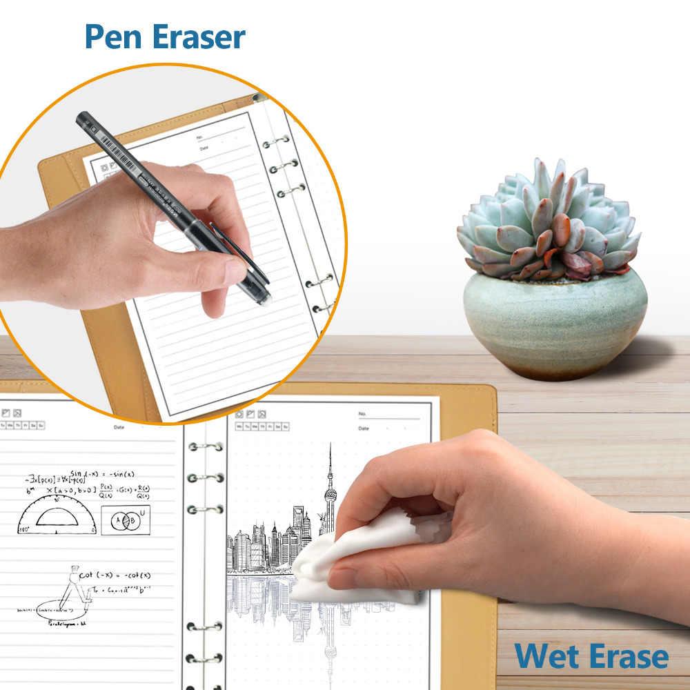 Newyes الذكية قابلة لإعادة الاستخدام قابل للمسح دفتر الميكروويف موجة سحابة محو المفكرة مفكرة اصطف مع القلم الجيب دروبشيبينغ