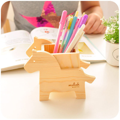 Animal Cute Wood Pencil Holder For Pens Office Wooden Desk Organizer For  Pens And Pencils In Pen Holders From Office U0026 School Supplies On  Aliexpress.com ...