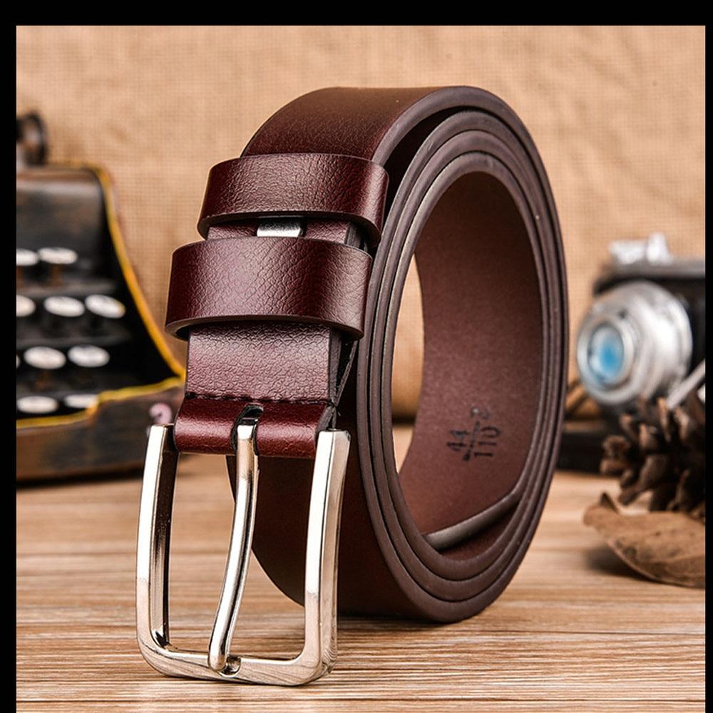 Men Genuine Leather Belt Brown Automatic Buckle Belt Modis Luxury Brand Waist Band Male Cintos High Quality ремень мужской