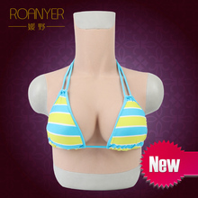 Roanyer crossdresser realistic artificial silicone big fake Boobs c Cup transgender drag queen latex breast forms artificial breast boobs cup h 3200g pair realistic breast prosthesis silicone breast forms for crossdresser transgender