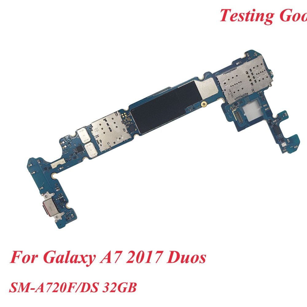 Tehxv Original Unlocked Main Motherboard Replacement For Samsung Galaxy A7 2017 Duos SM A720F DS Dual