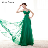 Emerald Green Long Prom Dress A Line Scoop Sleeveless Dress Elegant Occasion Dresses For Women Beads