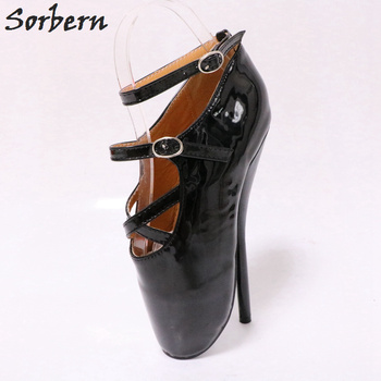 Sorbern Black Heels Ballet Shoes Unisex Size 36-46 High Heel Pump Ladies Prom Heels Women Shoes Size 45 Exotic Dancer Shoes