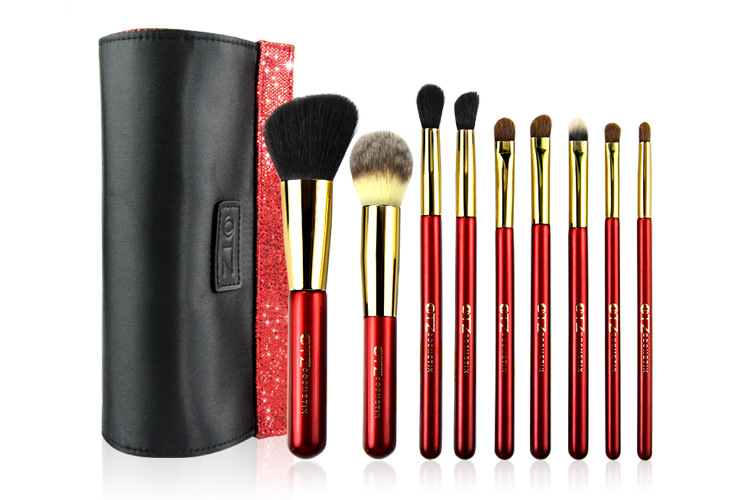 Professional 9Pcs Cosmetic Makeup Brushes Set  tools kit Woman's Kabuki Foundation make up Brush pincel de maquiagem 10pcs set professional makeup brushes set kit de pinceis make up brush maleta de maquiage makeup brushe set cosmetic brushes set