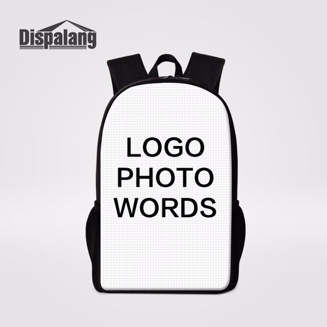 Dispalang Customized Design School Backpack Large Capacity Women Laptop  Backpacks Children School Bags College Student Bookbag d4ad84ec8fa3e