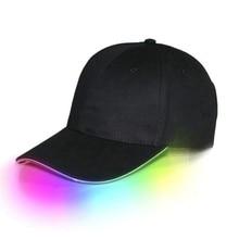 LED Light Up Baseball Caps Glowing Adjustable Hats Perfect f