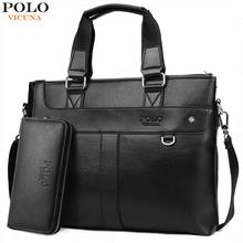 VICUNA POLO Classic Business Man Briefcase Brand Computer Laptop