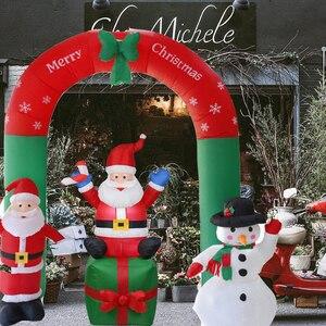 Image 1 - Nadmuchiwany święty mikołaj boże narodzenie na zewnątrz ozdoby świąteczne przyjęcie noworoczne sklep domowy Yard dekoracje ogrodowe ozdoby świąteczne