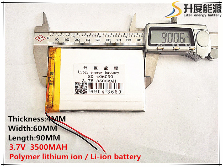 3.8V 3.7V 3500mAh [406090] Polymer lithium ion / Li-ion battery ( ATL cell) for tablet pc,POWER BANK,cell phone