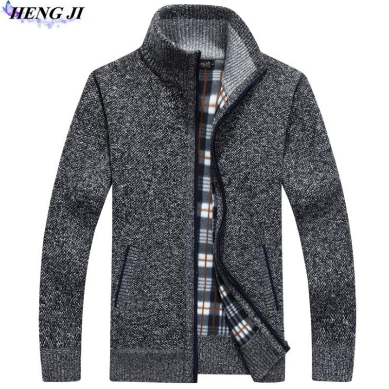HENG JI 2017 new font b men s b font font b sweater b font cardigan