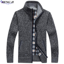 HENG JI 2017 new men's sweater cardigan, casual long-sleeved knitwear, loose men cardigan, high quality, free shipping