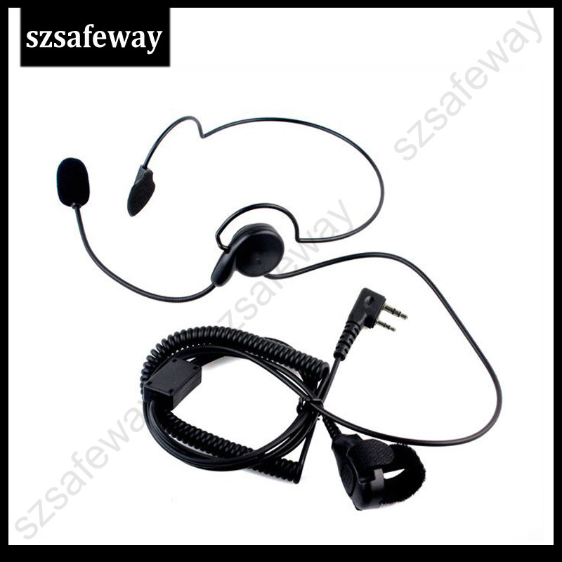 Two Way Radio Headset For Kenwood With Finger PPT Push To Talk For Baofeng UV-5R TK-208, TK-220, TK-240, TK-240D 8 Free Shipping