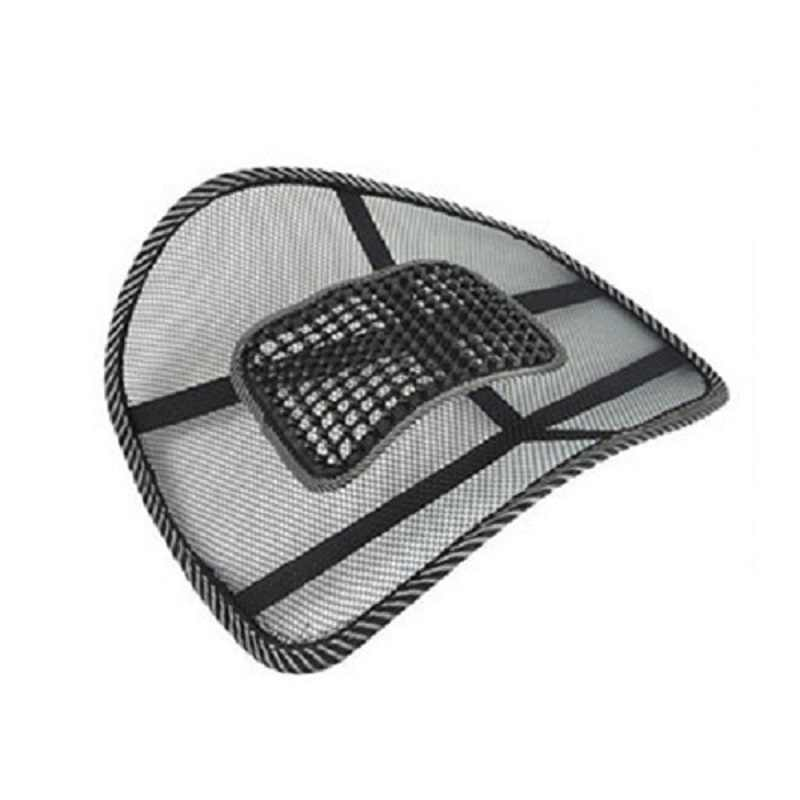 2017 新カーシートクッション高品質メッシュ腰椎コードレスマッサージを保護するウエスト寛解駆動疲れ