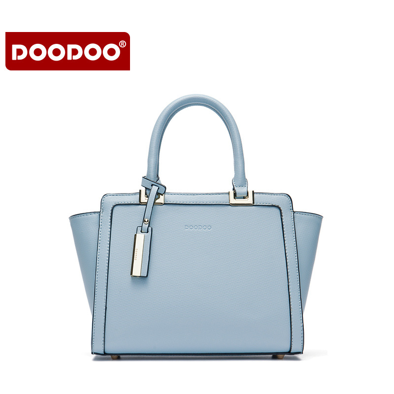 DOODOO Lady Real Leather Handbags Business Luxury Brand Women Designer Handbags High Quality Women's Shoulder Bags Tassel  T624
